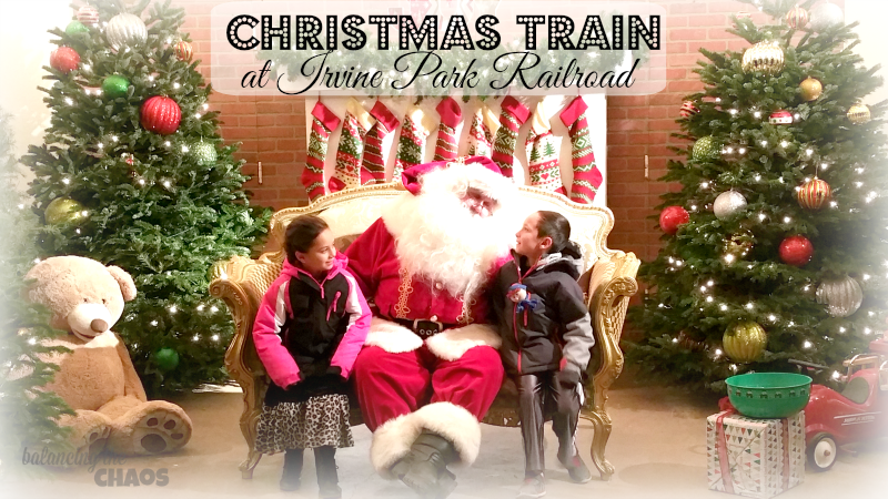 Order Your Tickets To The Christmas Train at Irvine Park Railroad Now, Online
